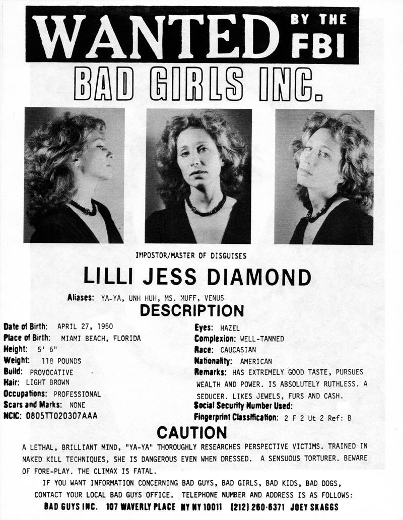 Lilli Jess Diamond's headshot (back) from Bad Guys Talent Management Agency
