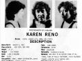 Karen Reno's headshot (back) from Bad Guys Talent Management Agency