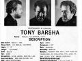 Tony Barsha's headshot (back) from Bad Guys Talent Management Agency