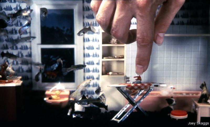 Joey Skaggs Fish Condos: Bathroom with Ironing Board
