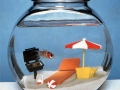 Joey Skaggs Fish Condos: Beach Barbeque Goldfish Bowl