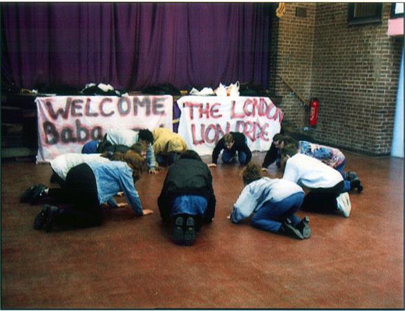 Baba Wa Simba, aka Joey Skaggs, with London Pride, 1995