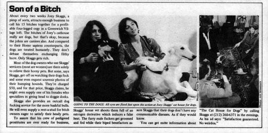 Screw Magazine, Son of a Bitch, February 23, 1976