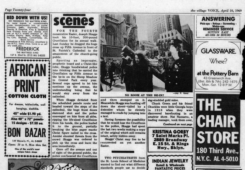 Scenes, The Village Voice, April 4, 1969
