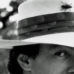 Joey Skaggs as Dr. Josef Gregor in his Metamorphosis Cockroach Cure hoax