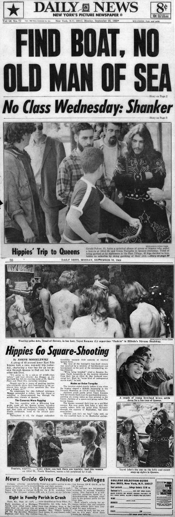 Hippies' Trip to Queens, by Joseph Modzelewski, New York Daily News, September 23, 1968