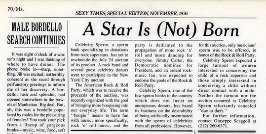 A Star is Not Born, Ms Magazine November, 1976