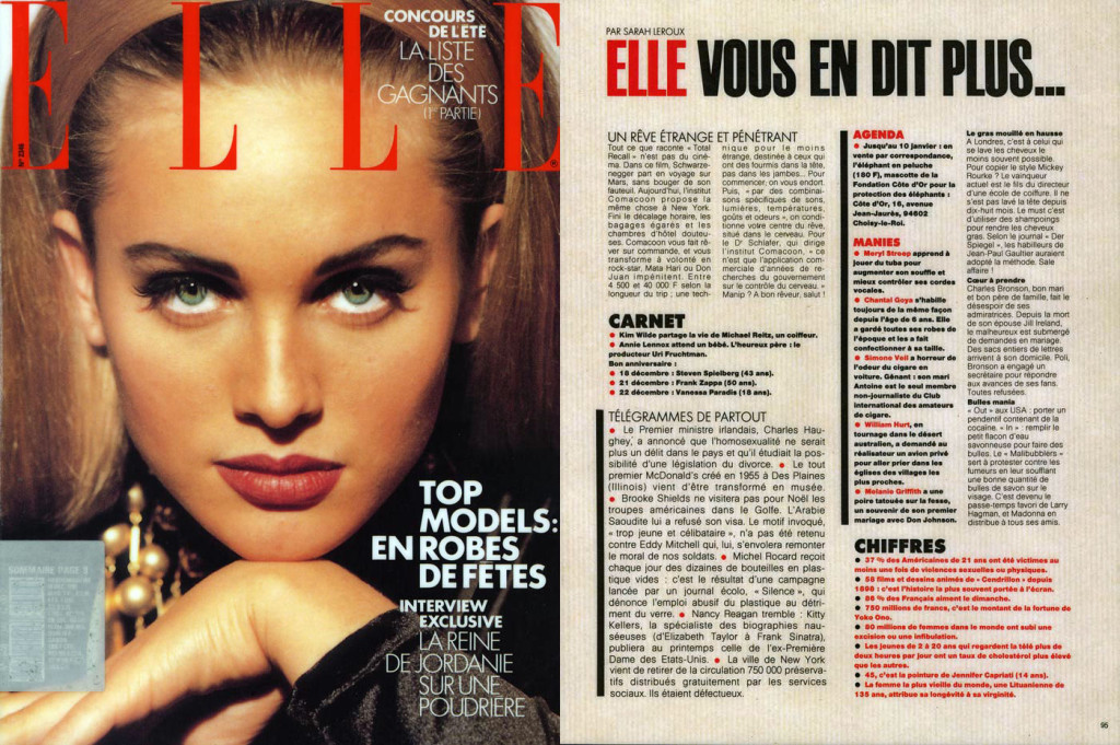 Un Rêve Étrange et Pénétrant, Elle, December 24, 1990