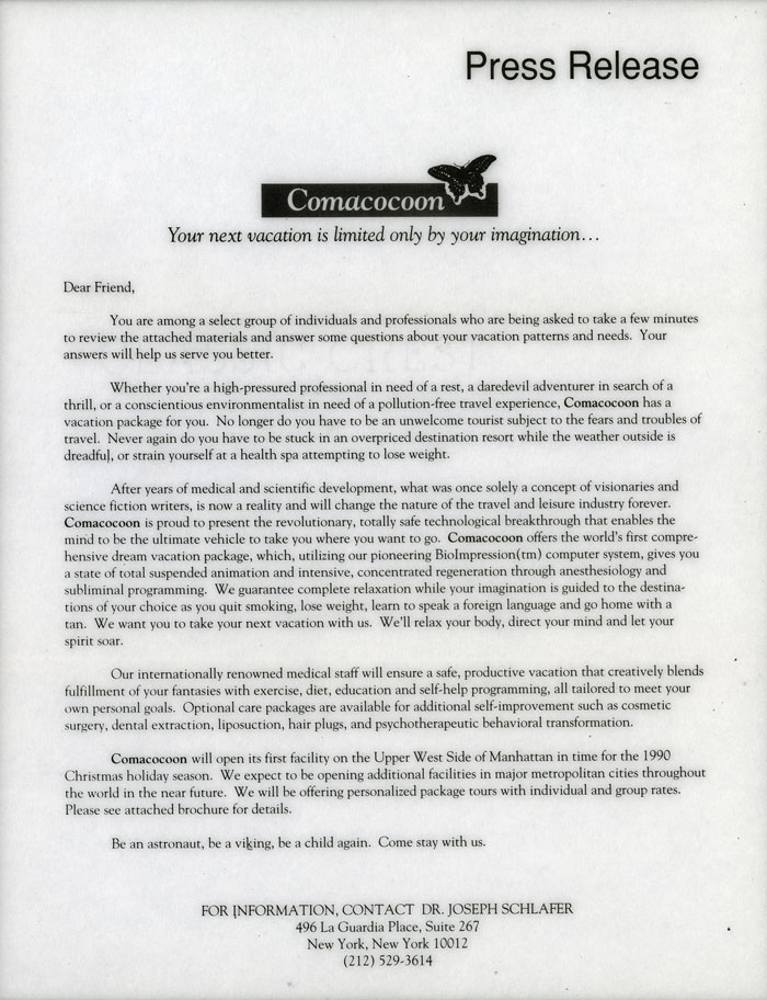 Comacocoon Press Release