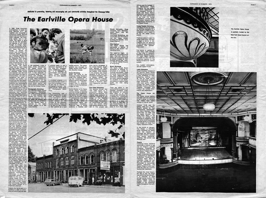 The Earlville Opera House, Chenango in Summer, 1993