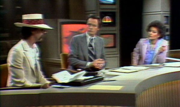 Dr. Josef Gregor (aka Joey Skaggs) on WNBC TV's Live at Five with Jack Cafferty and Sue Simmons, 1981