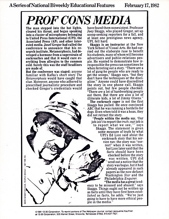 Prof Cons Media, Wall Paper Journal, February 17, 1982