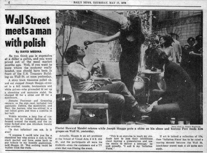 Wall Street meets a man with polish, Daily News, May 17, 1979