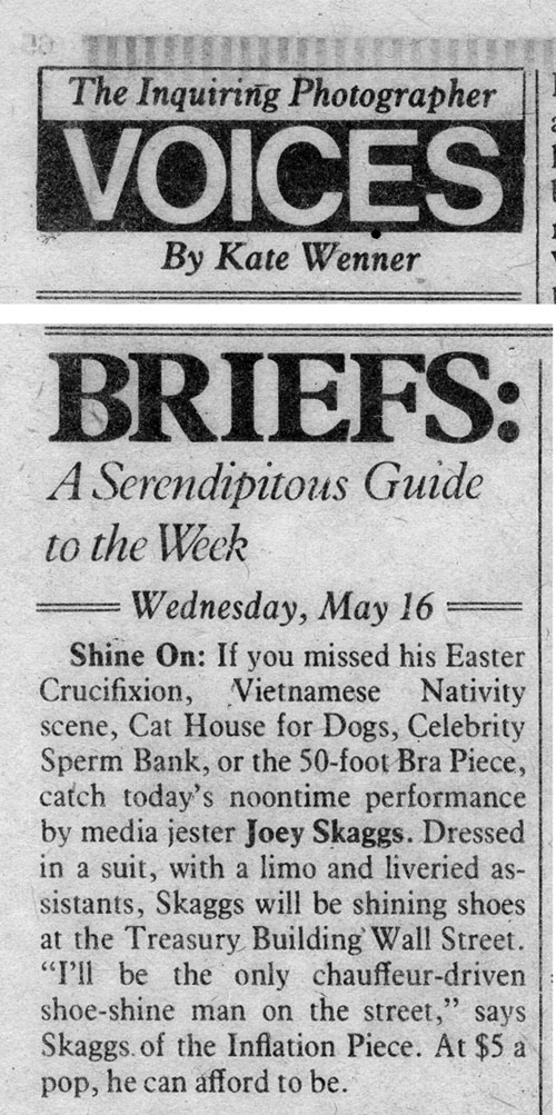 Briefs: A Serendipitous Guide to the Week, The Village Voice, May 16, 1979
