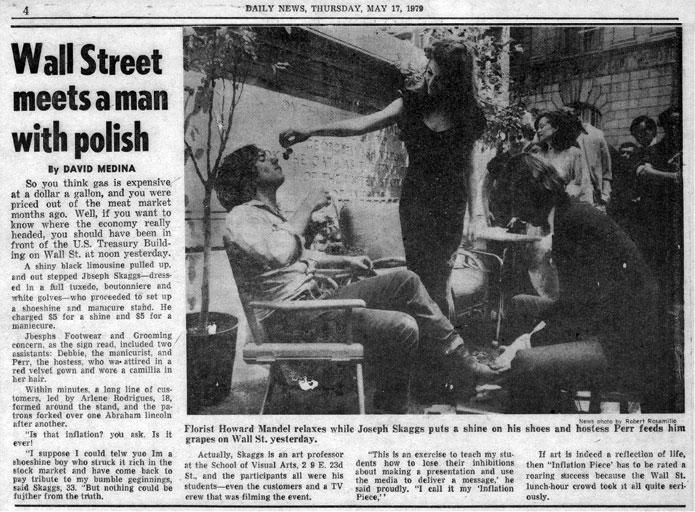 Wall Street meets a man with polish, by David Medina, Daily News, May 17, 1979