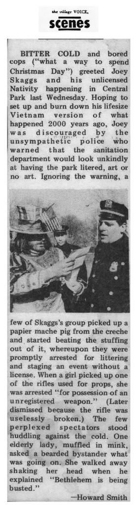 Scenes, by Howard Smith, Village Voice, December 1968