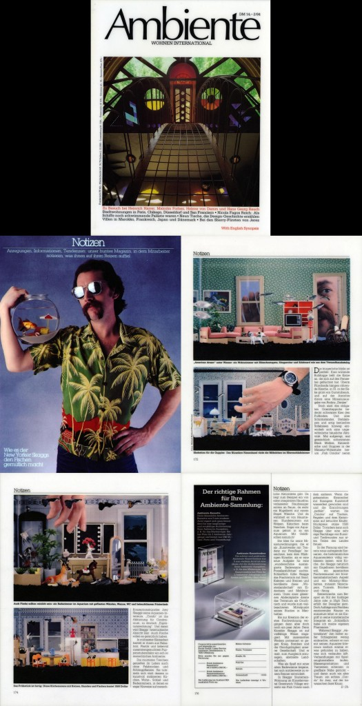Notizen, Ambiente (German), February, 1984