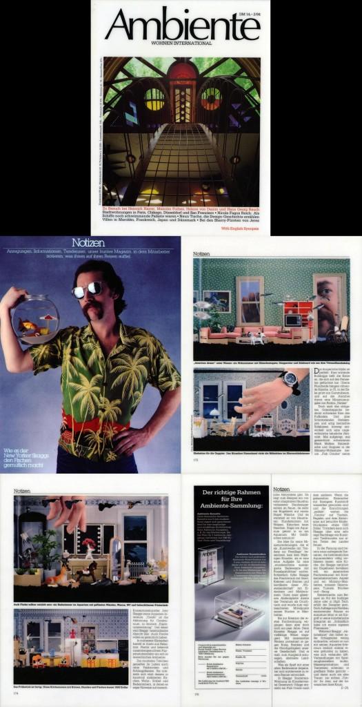 Notizen, Ambiente (German), February, 1984