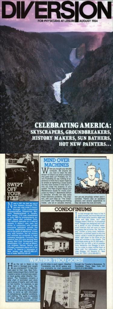 Condofiniums, Diversion, August 1984