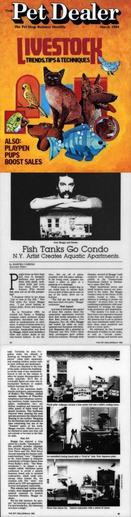 Fish Tanks Go Condo, by Martha Carroll, Pet Dealer, March 1984