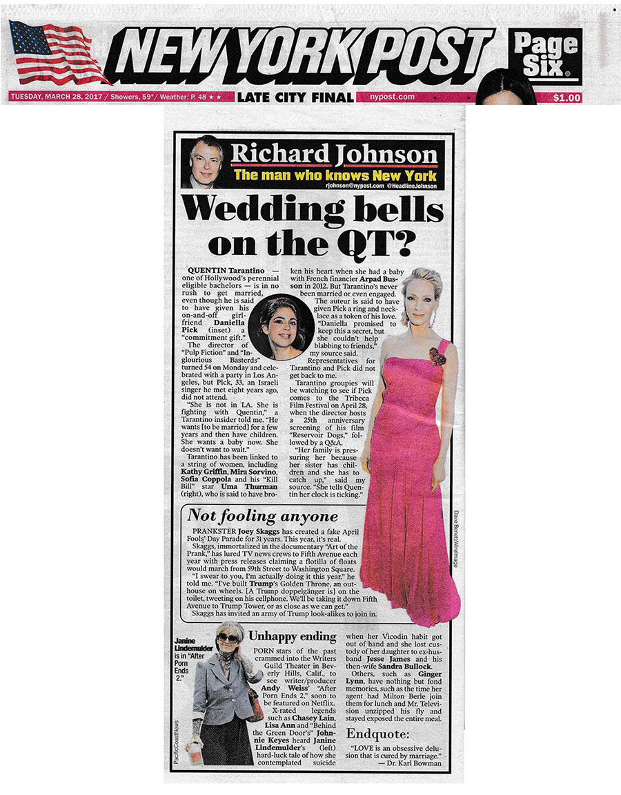 Not Fooling Anyone, by Richard Johnson, New York Post Page ...