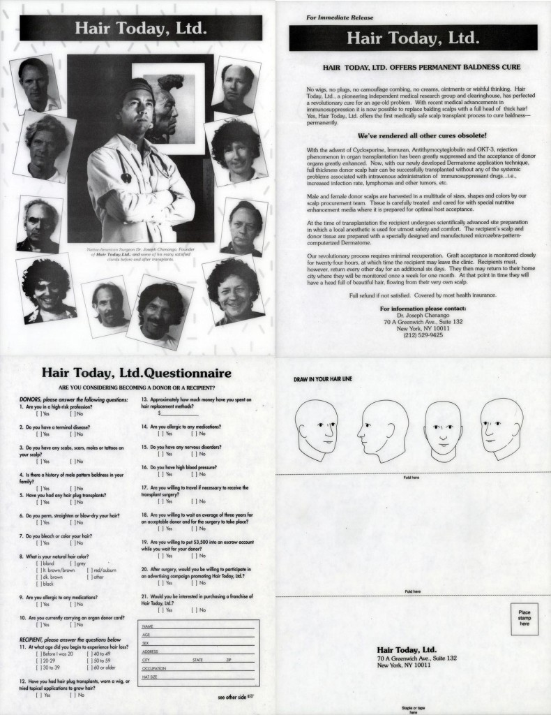 Hair Today, Ltd. Brochure