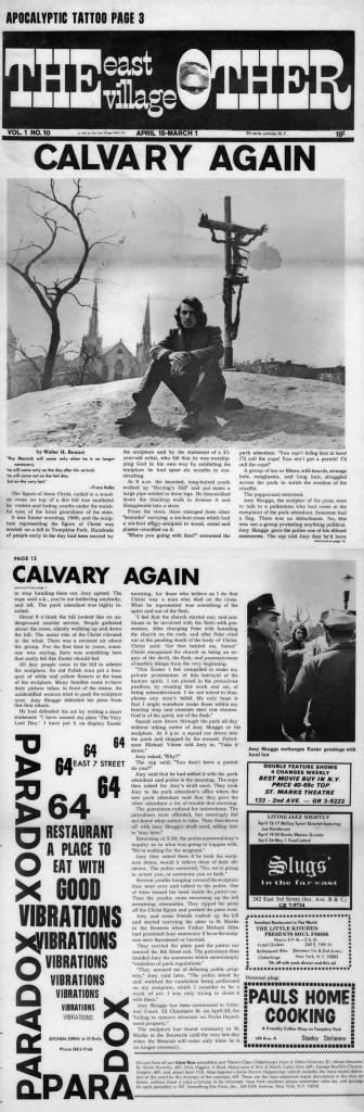 Calvery Again, East Village Other, April 15, 1966
