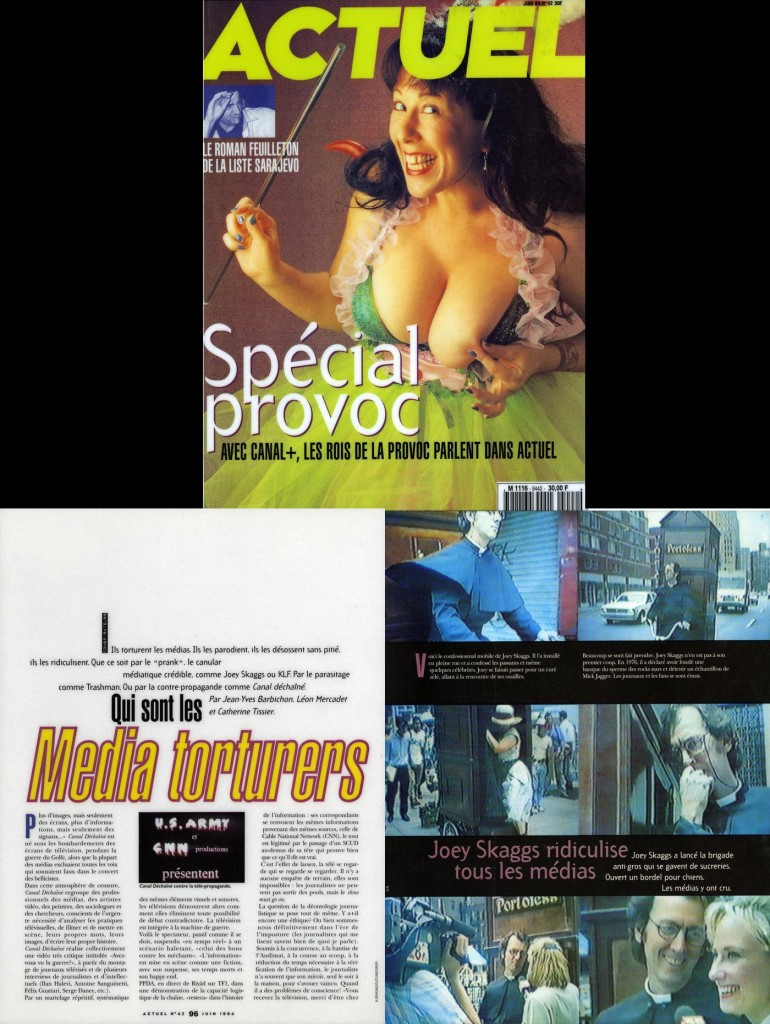 Qui sont les Media torturers, Actuel, June, 1994