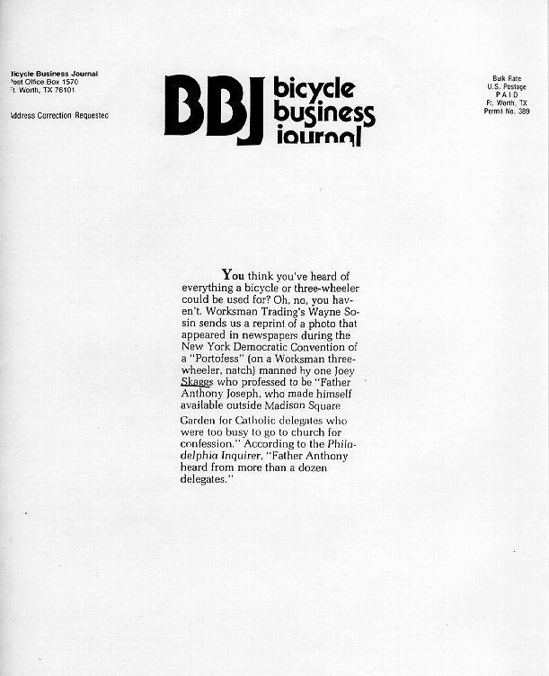 Bicycle Business Journal, July, 1992