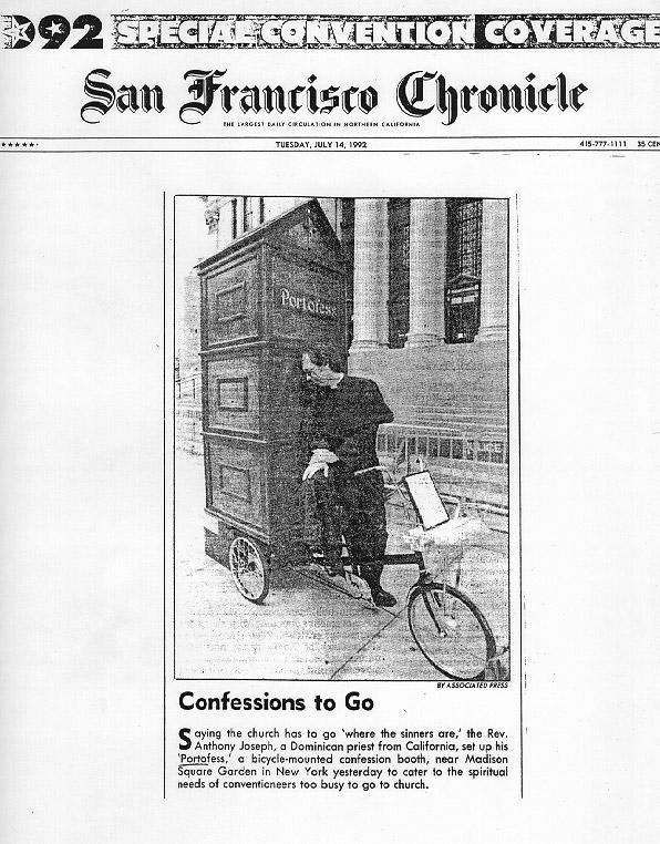 Confessions to Go, San Francisco Chronicle, July 14, 1992