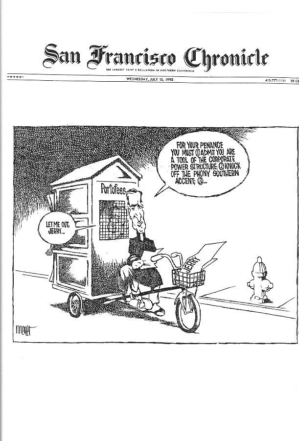 San Francisco Chronicle cartoon, July 15, 1992