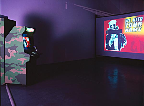 Joey Skaggs' Art Attack interior set-up, EACC Museum Catalog, October, 2002
