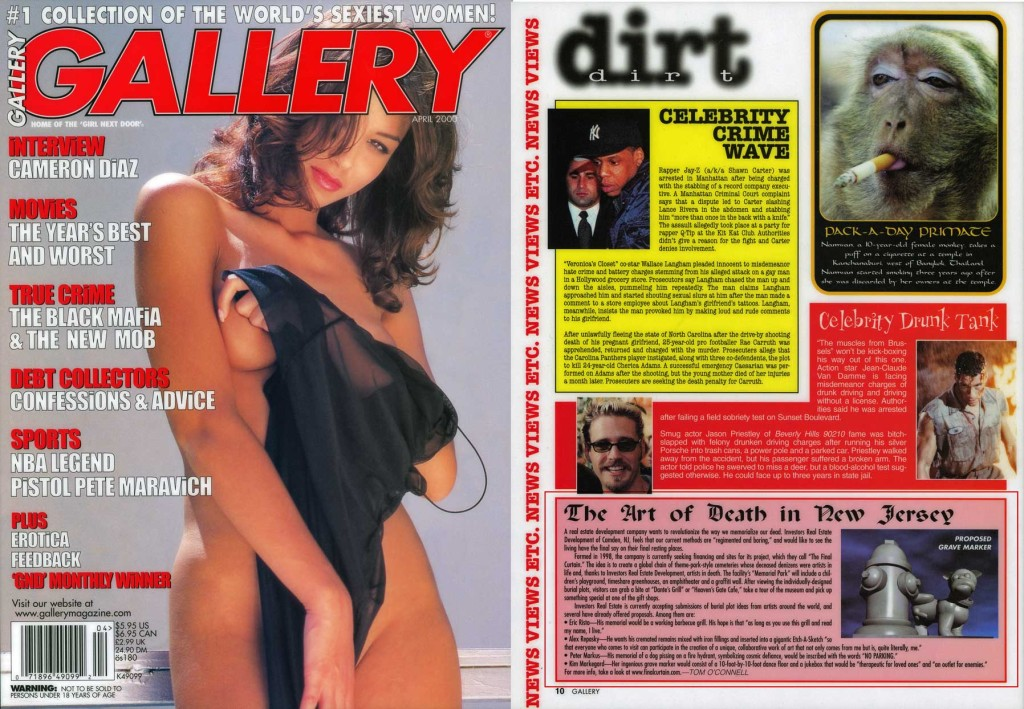 The Art of Death in New Jersey, Gallery, April 2000