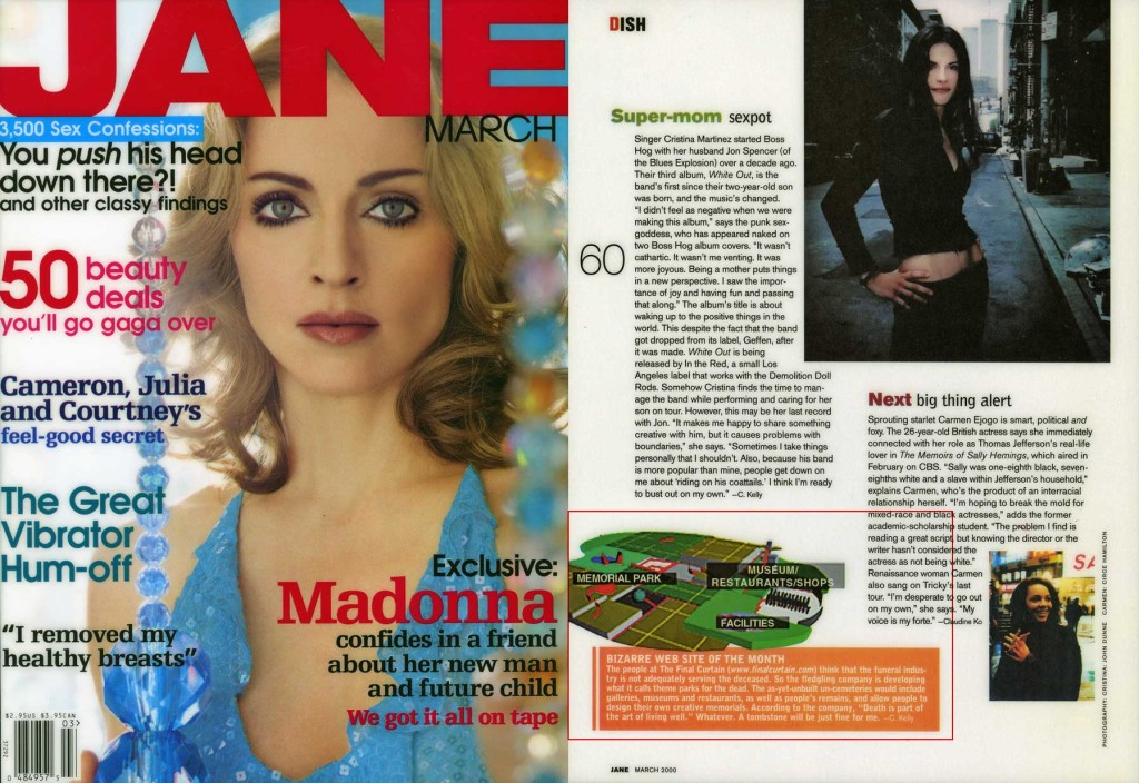 Bizarre Website of the Month, Jane, March 2000