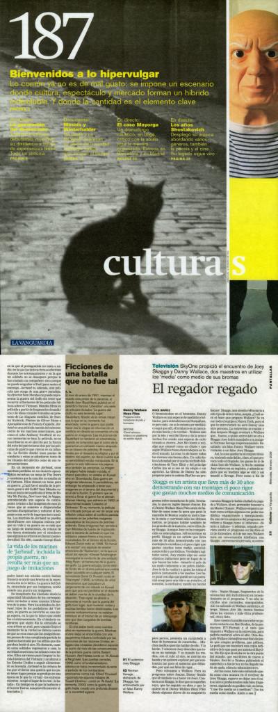 El regador regado, by Mike Ibáñez, La Vanguardia187, January, 19, 2006