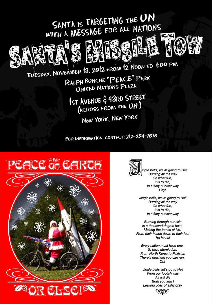 Joey Skaggs' Santa's Missile Tow greeting card