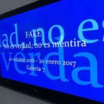 """""""Fake"""" exhibition billboard at IVAM"""